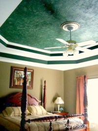 How to paint a Faux Marble Ceiling!