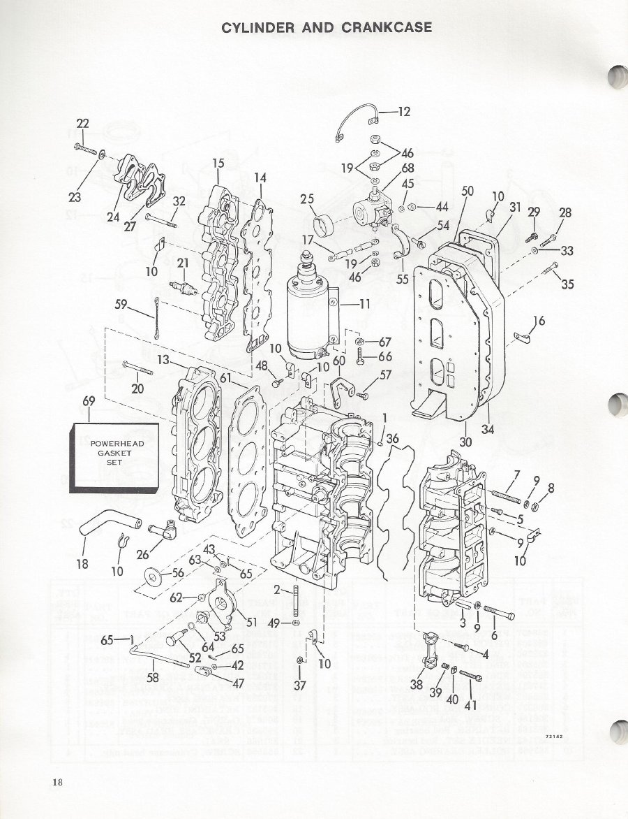 FT-19s Evinrude/Johnson 850cc race engine. Info and