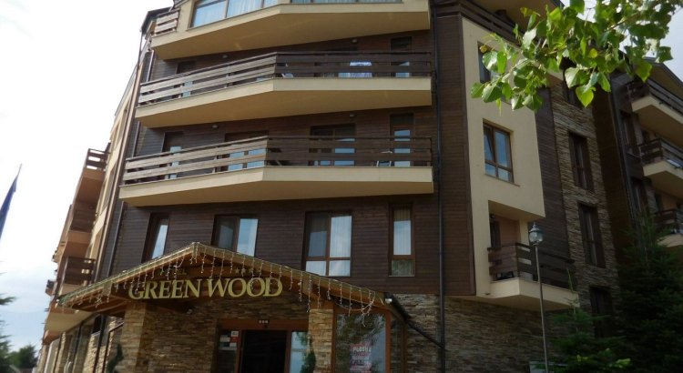 Green Wood Hotel & SPA, Bansko, Bulgaria, Front View, Featured Image, Morning