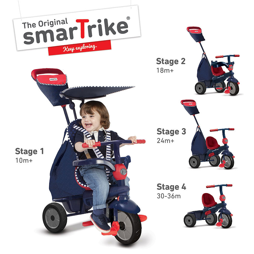 Smart Trike Roze Tricikl Smart Trike 4u1 Shine Navy 6402502
