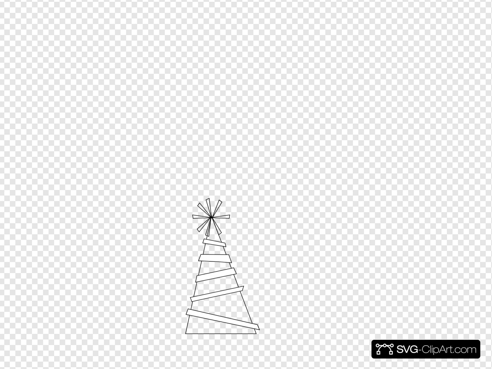 Party Hat Clipart Black And White Party Hat Outline Clip Art Icon And Svg Svg Clipart