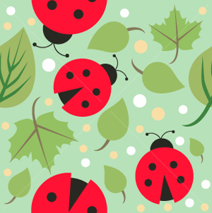 20.Lady Bug Seamless Pattern