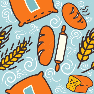 41.Bread Seamless Pattern