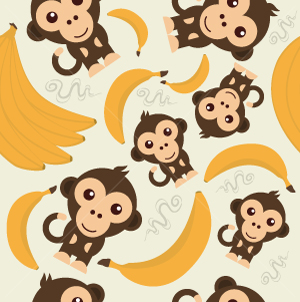 48.Monkey Seamless Pattern