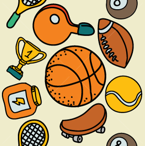59.Sports Seamless Pattern