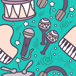 60.Music Seamless Pattern