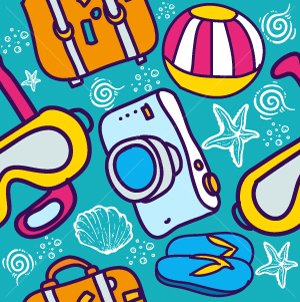 62.Travel Seamless Pattern