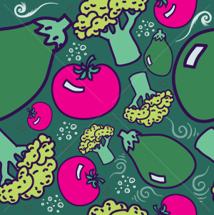 66.Vegetables Seamless Pattern