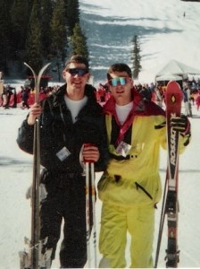 Ski time with my youngest brother