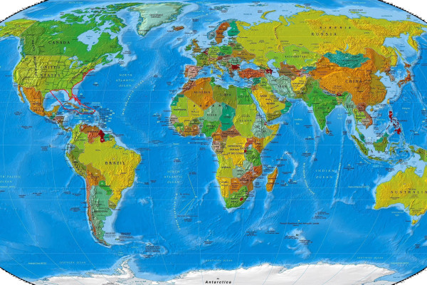 World Map Route