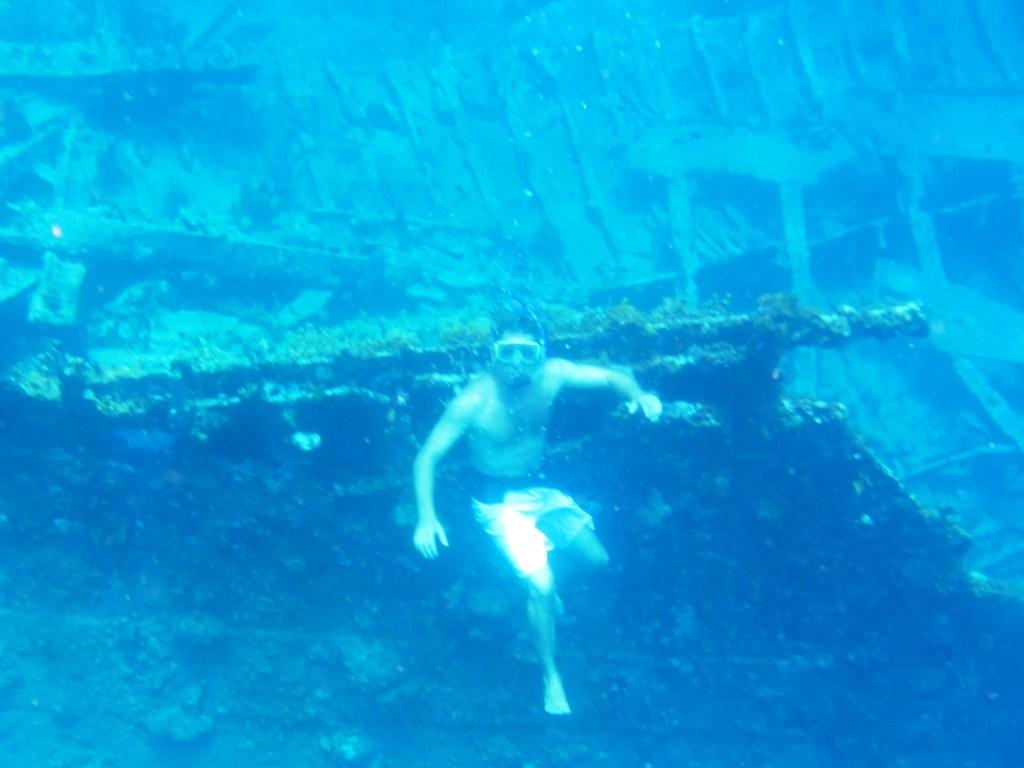 Me snorkeling the Rhone