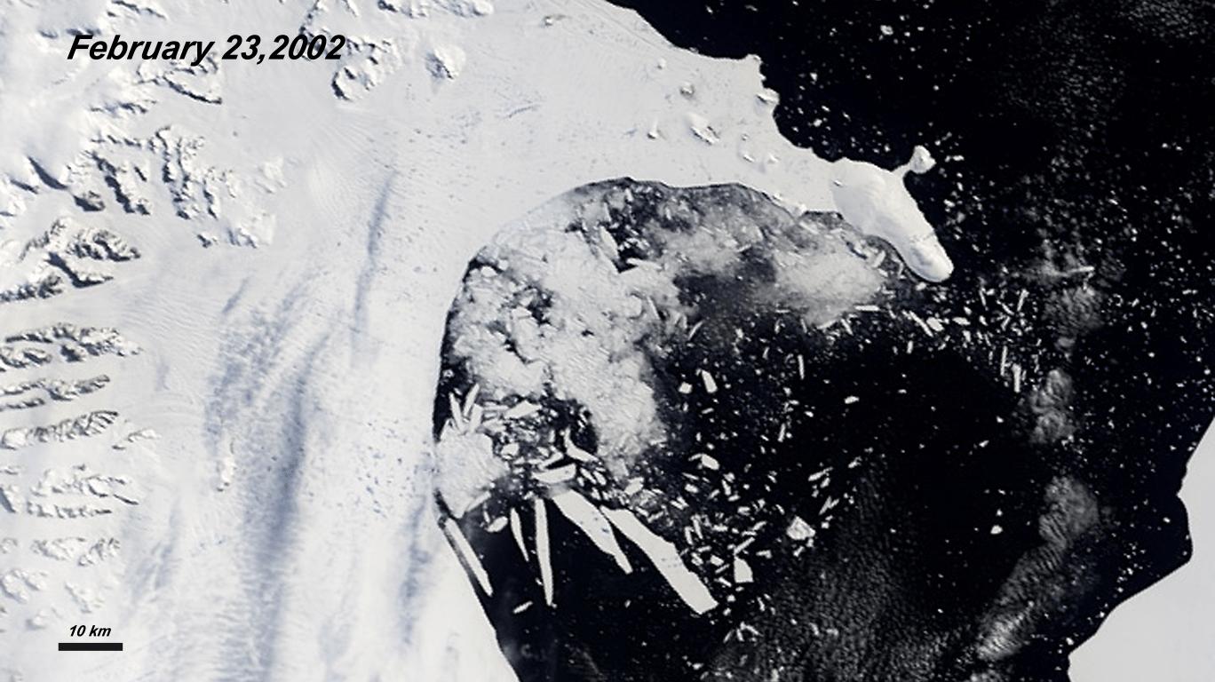 Hyperwall Collapse Of The Larsen B Ice Shelf