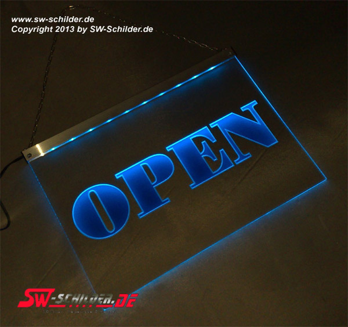 Open Schild Led Led Gravur Leuchtschild Open Classic-version