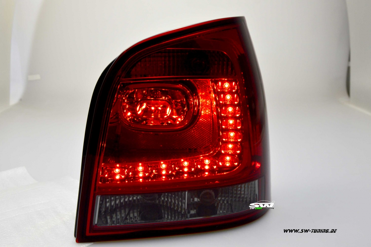 Led Leisten Set Sw-light Led Rückleuchten Für Vw Polo 9n 01-05 Red/smoke