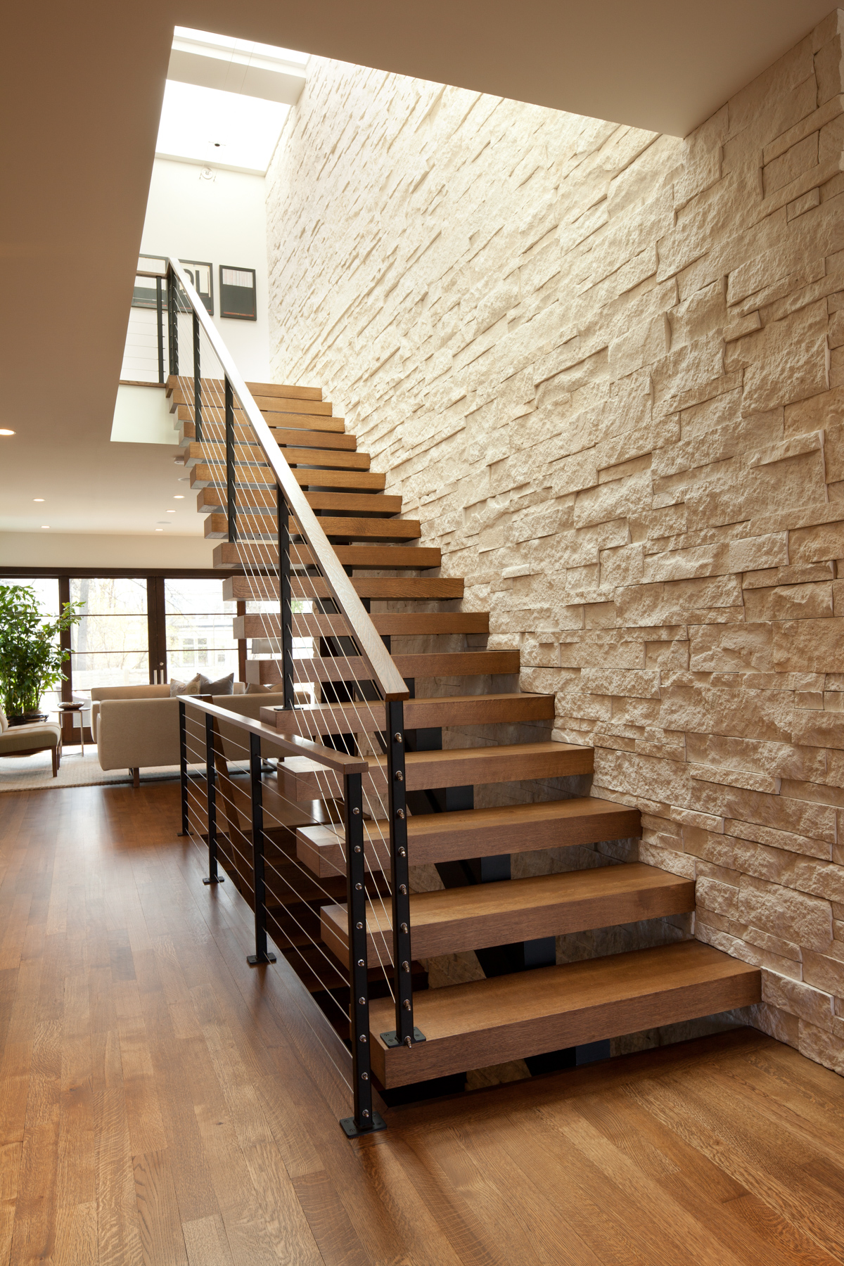 Open Staircase Design Linden Hills Contemporary Swan Architecture