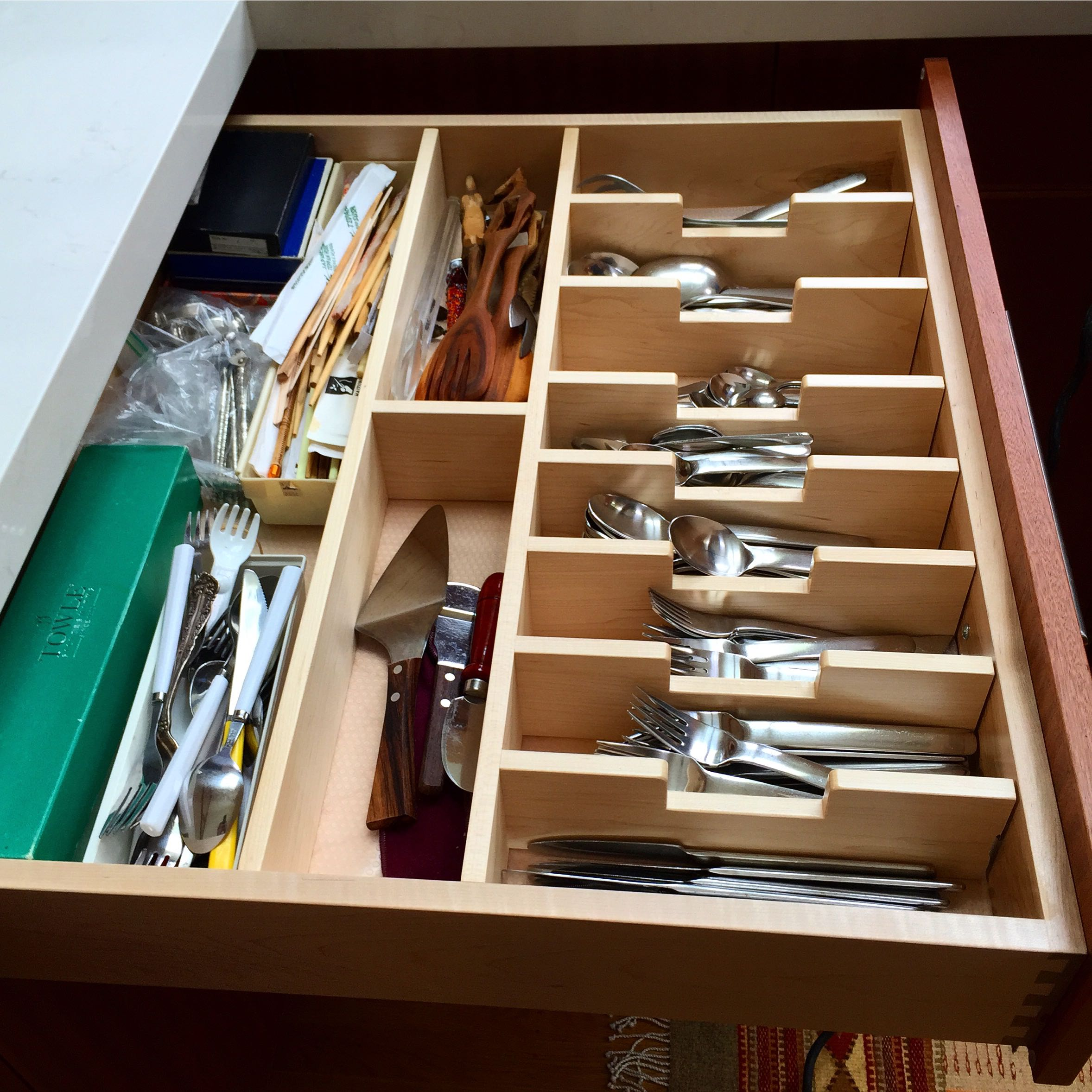 Kitchen Cabinet Drawer Organizers Need Space Get A Custom Cutlery Drawer For Your Kitchen