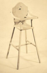Philip's carpentry skills-doll high chair
