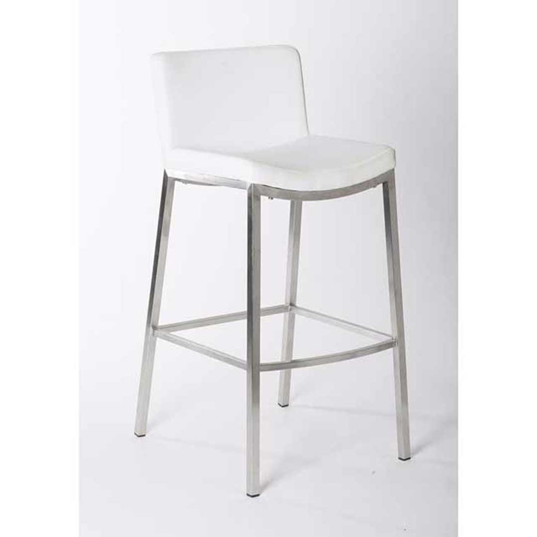Stainless Bar Stools Vargo Stainless Steel Bar Stool White
