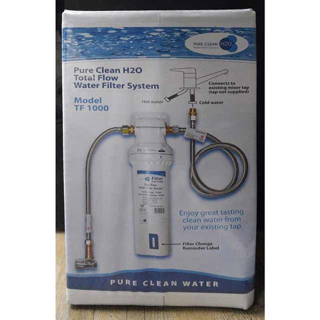 Second Hand Kitchen Island Pure Clean H20 Total Flow Water Filter System Tf1000