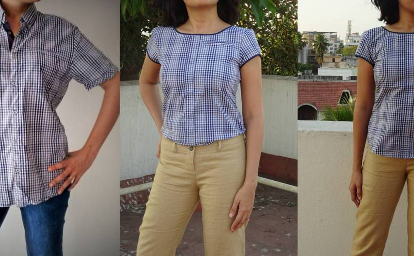 Project Upcycle: Boring Men's Shirts to Pretty Tops