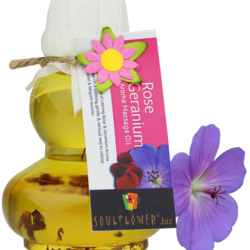 Soulflower Rose Geranium Massage Oil