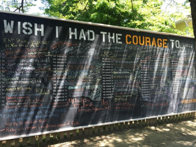 Courage wall