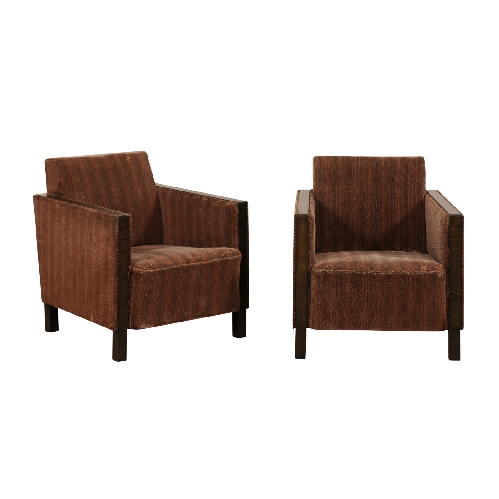 Swedish Mid Century Furniture Pair Swedish Mid Century Club Chairs 171 A Tyner Antiques
