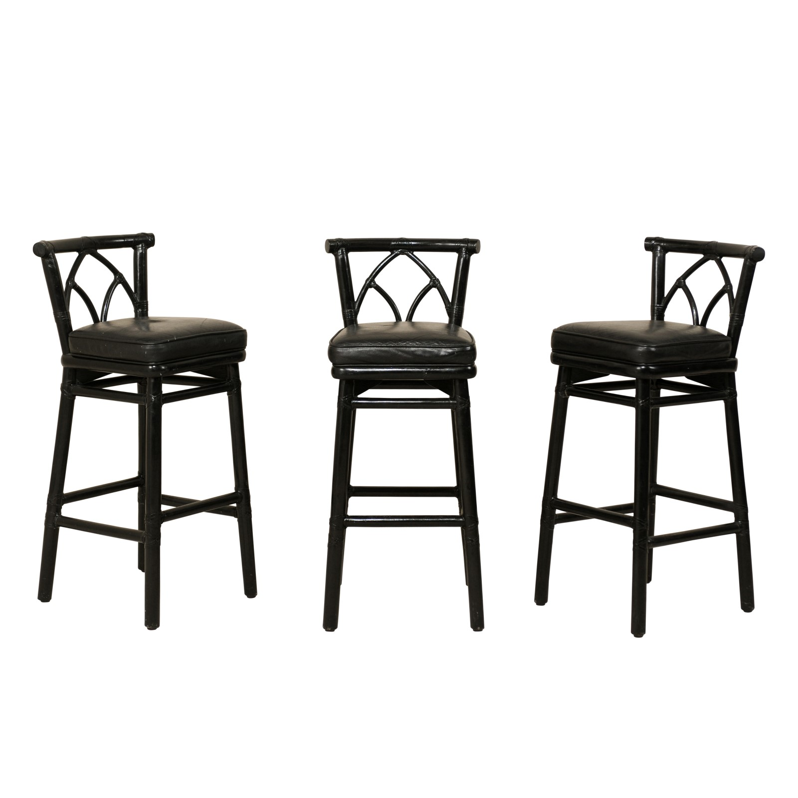 Swedish Bar Stools Set Of Mcguire Rattan Bar Stools 119 A Tyner Antiques