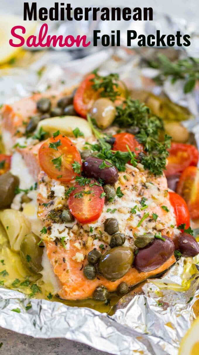 Mediterrane Küche An Bord Mediterranean Salmon Foil Packets Video Sweet And Savory Meals