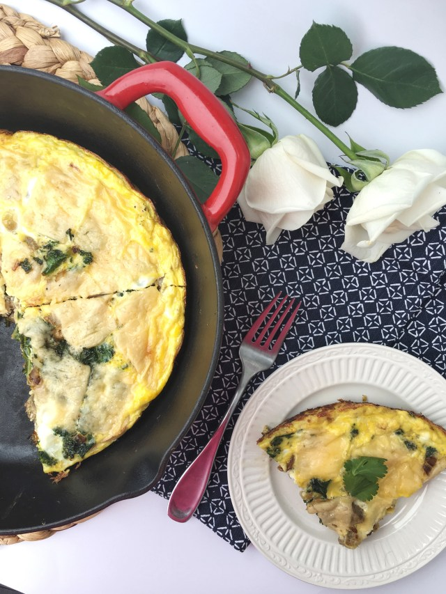 Chicken Sausage, Kale, and Mushroom Frittata - Sweet and Strong
