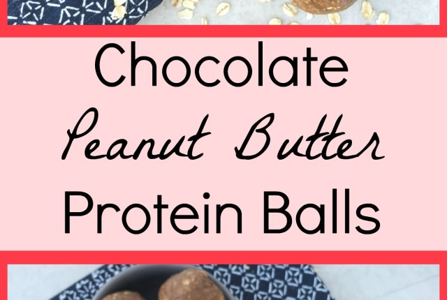 Chocolate Peanut Butter Protein Balls -Sweet and Strong Blog