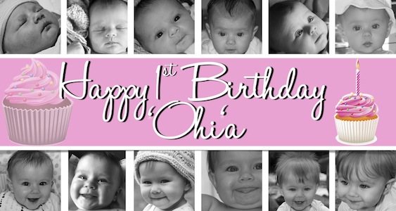 Cupcake Birthday Banner Sweet-Art Designs Creative ideas from - first birthday banner
