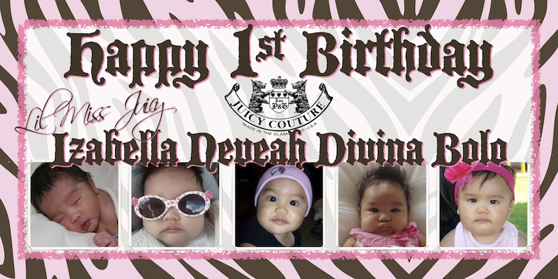 baby first birthday banner Sweet-Art Designs Creative ideas - first birthday banner