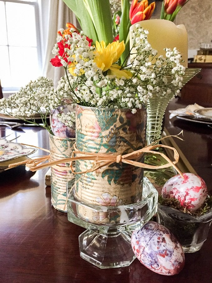 Diy Shabby Chic Easter Table Setting