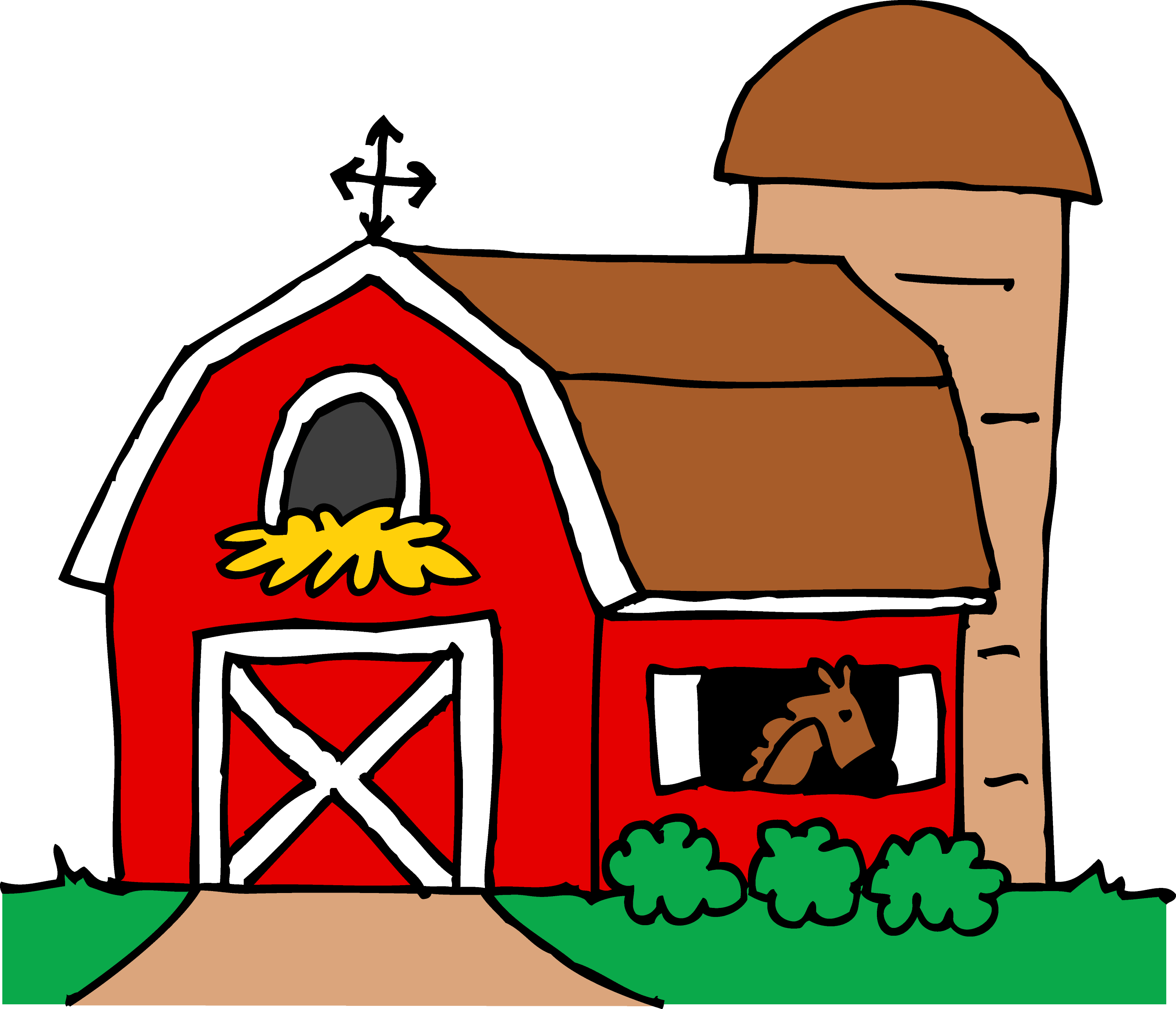 Red Farmhouse Drawing Little Red Barn Clipart Free Clip Art