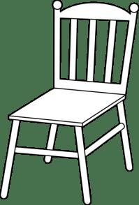 Chair Line Art - Free Clip Art