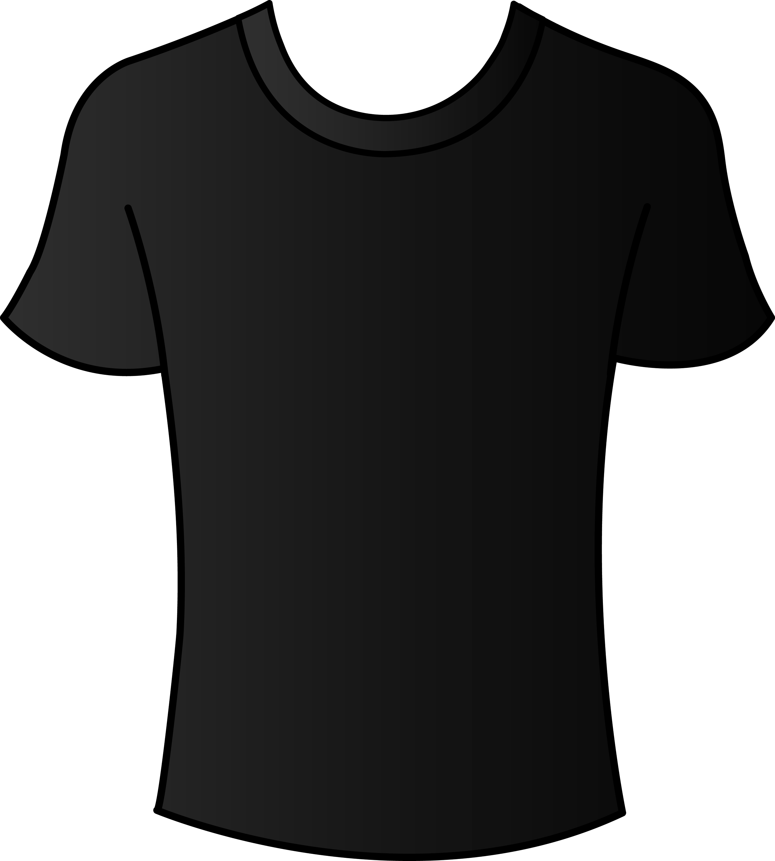 Mens black t shirt template free clip art