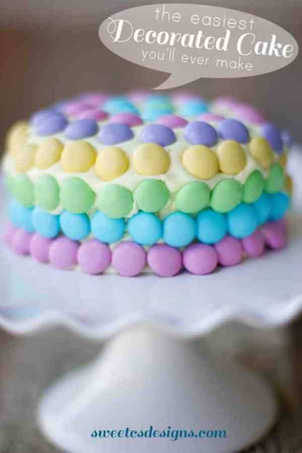 the easiest decorated cake you'll ever make! Take store bought icing ...