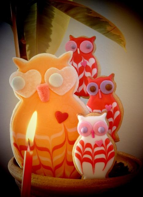 SDB Owl and mini owl decorative cookies