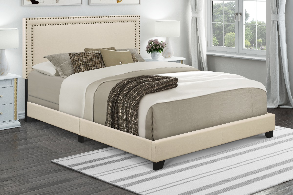 Queen Bed Sale Sale 103 99 Reg 149 00 Home Meridian Cream Upholstered Queen
