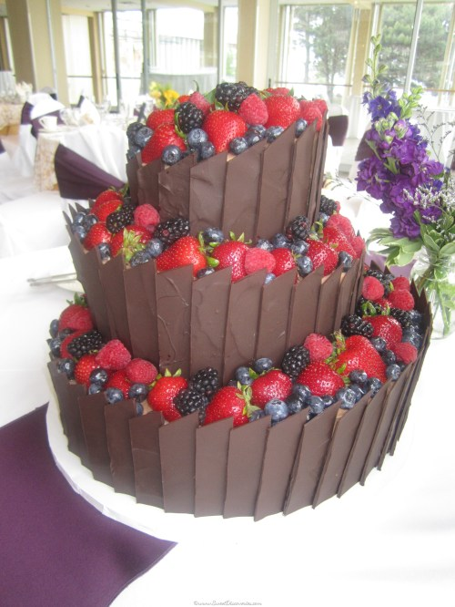 Medium Of Chocolate Wedding Cake