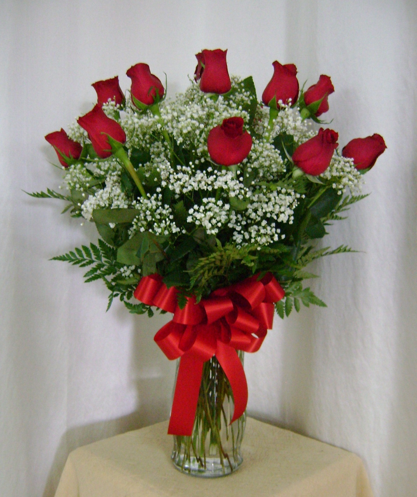 Rosen In Vase Classic Red Rose Vase Long Stems Flowers Boutique