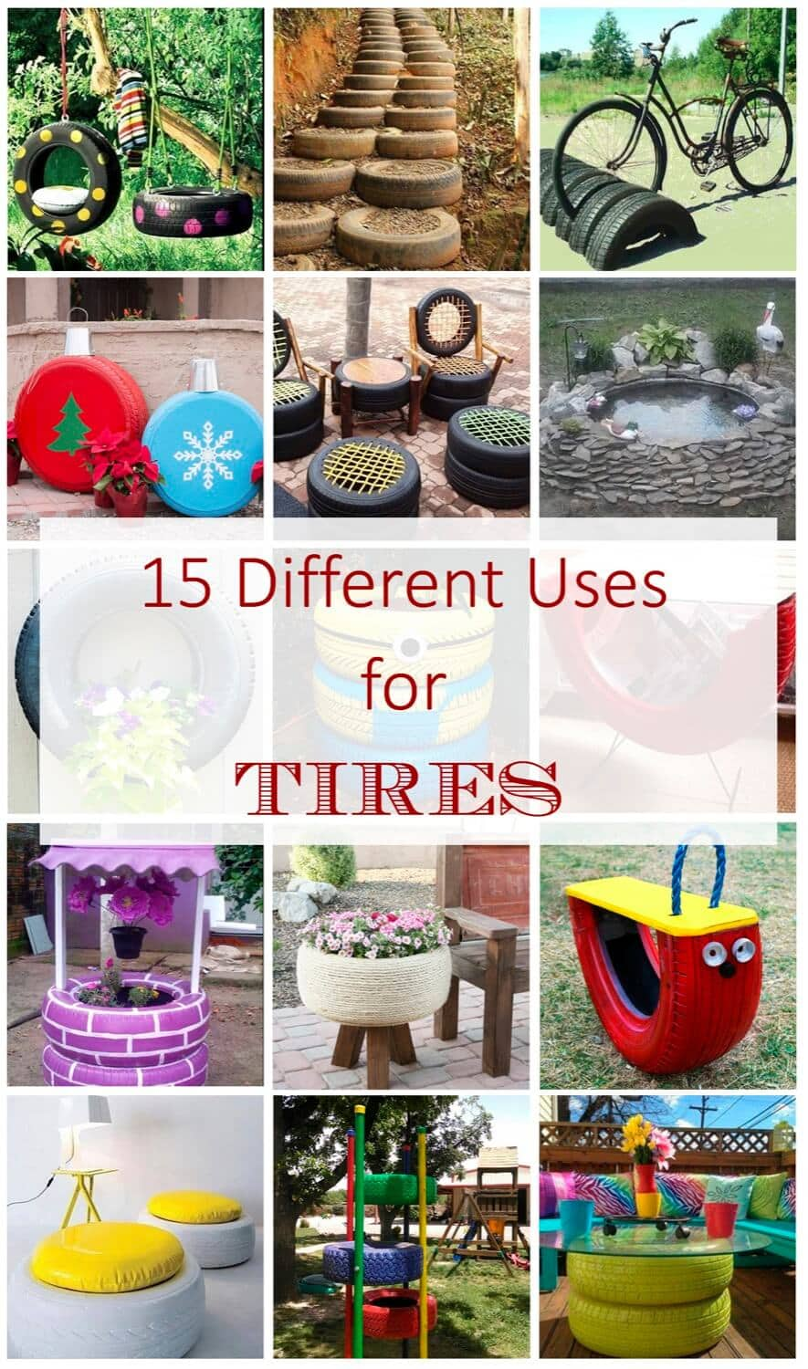 15 Different Uses For Tires And Not Ending In The Landfill