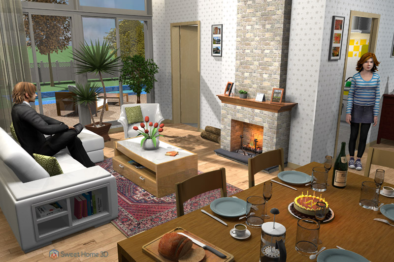 Kitchen Design Software For Pc Sweet Home 3d - Vrijuit Tekenen Van Plattegronden En