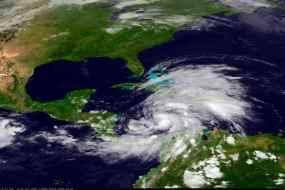 Tropical Storm Sandy approaches Jamaica