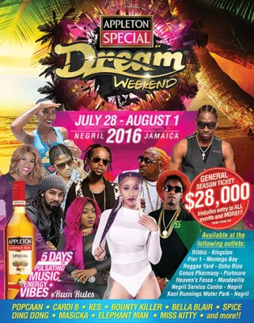 Appleton Special Dream Weekend 2016 – Things to do in Jamaica this Summer!