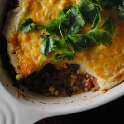 Cheesy Beef Tamale Pie with Tillamook