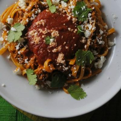 Mexican Fettucine Cabonara