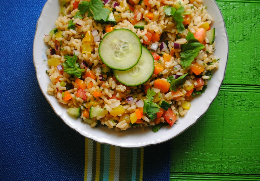 Brown Rice Salad from sweetlifebake.com