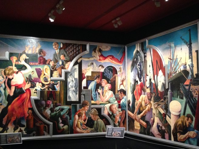 'America Today' mural by Thomas Hart Benton at The Metropolitan Museum of Art